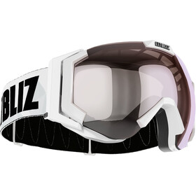 Bliz Carver Small Goggles, white-black/orange-silver mirror